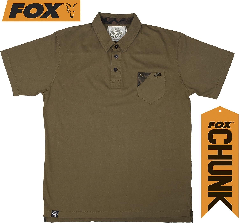 Fox chunk khaki stonewash polo L: Amazon.es: Deportes y aire libre