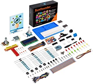 SunFounder Super Starter Learning Kit V3.0 for Raspberry Pi 4 Model B 3B+ 3B 2B B+ A+ Zero Including 123-Page Instructions Book for Beginners
