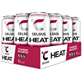 CELSIUS Heat Strawberry Dragonfruit Performance Energy Drink, Zero Sugar, 16Oz. Can, 12 Pack