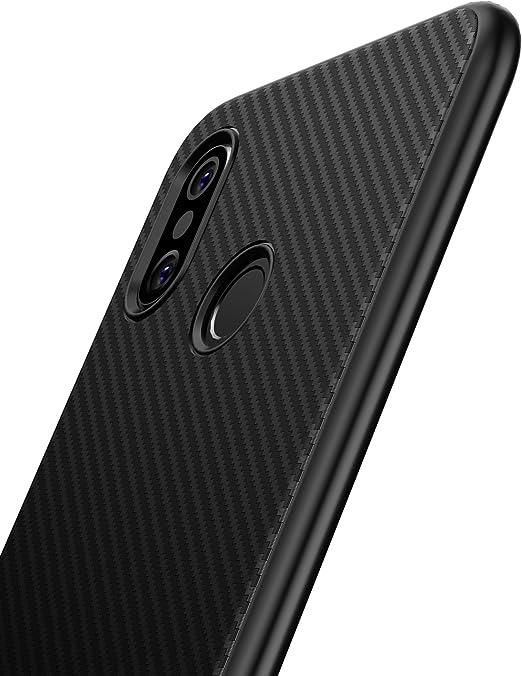 XINYUNEW Funda Xiaomi Mi 8,[Textura Fibra de Carbono] Carcasa ...