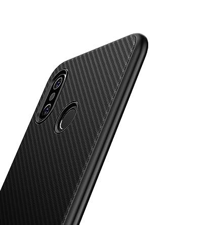 XINYUNEW Funda Xiaomi Mi 8 SE,[Textura Fibra de Carbono] Carcasa Ligera Silicona Suave TPU Gel Bumper Case Cover Caso para Xiaomi Mi 8 SE 5.88