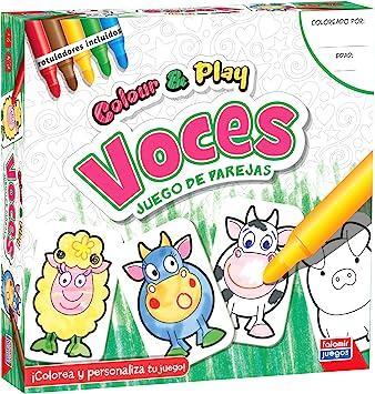 Falomir Color & Play Voces, Juego de Mesa, Manualidades, Multicolor (1): Amazon.es: Juguetes y juegos