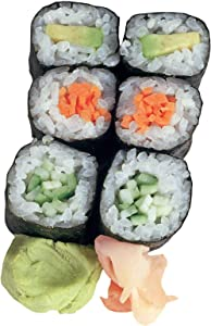"Paper House Productions 3.75"" x 2.5"" Die-Cut Sushi Roll Shaped Magnet for Refrigerators and Lockers"