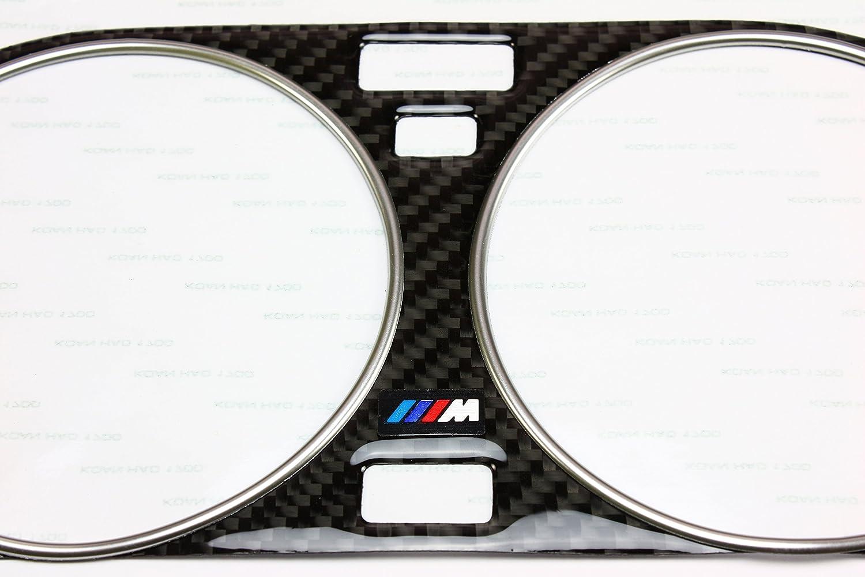 Carbon Cluster Dashboard Dial Gauge Bezel Trim /& Chrome Rings FOR 82-94 BMW E30