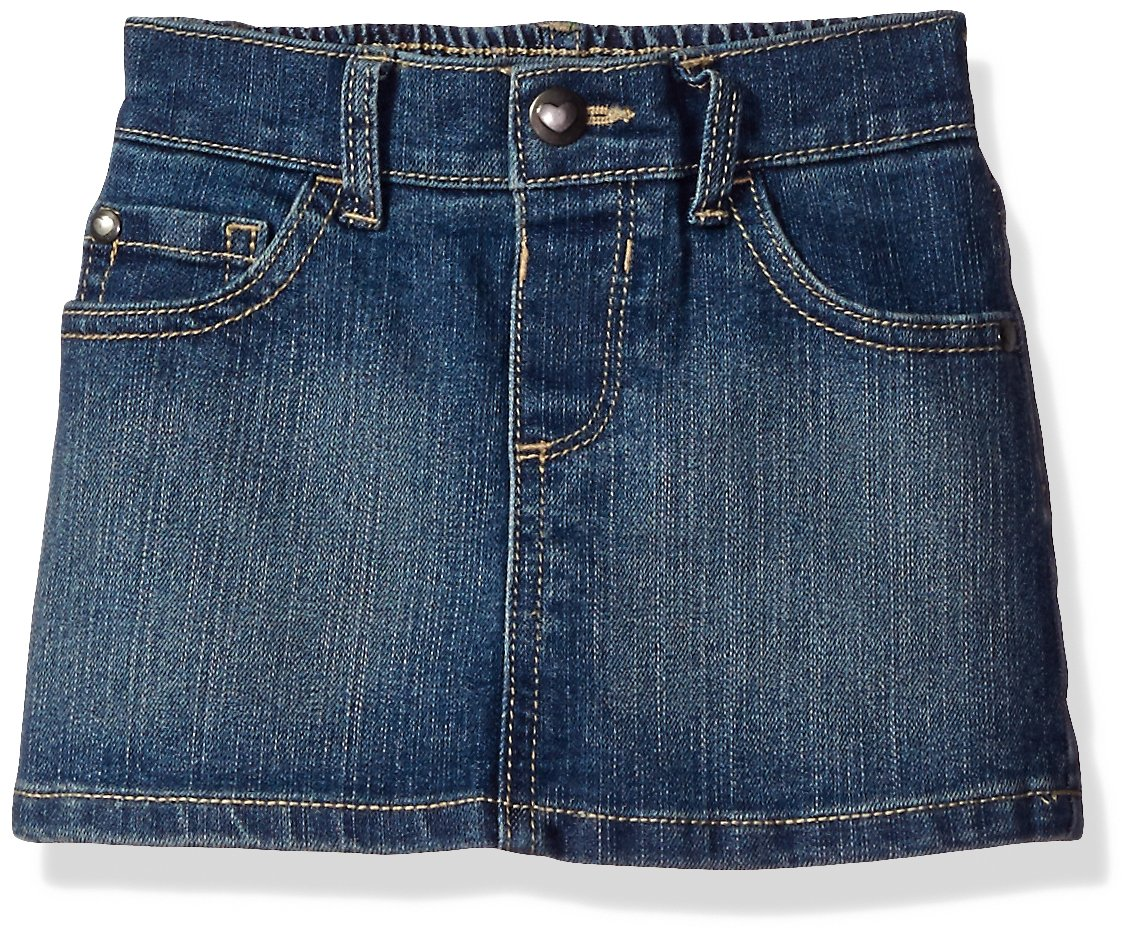 The Children's Place Baby Toddler Girls' Denim Mini Skirt, China Blue 7068, 5T
