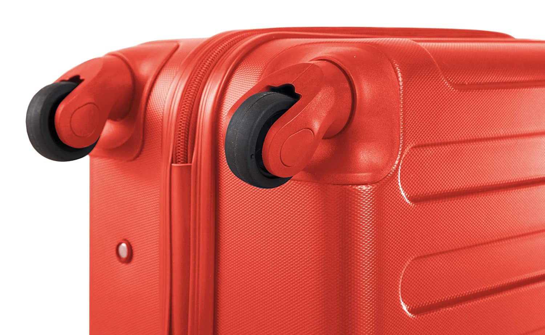 Rouge Trolley Rigide /à roulettes Grand Format ABS 77/cm SUITLINE S3 TSA /93 Litre Valise de soute