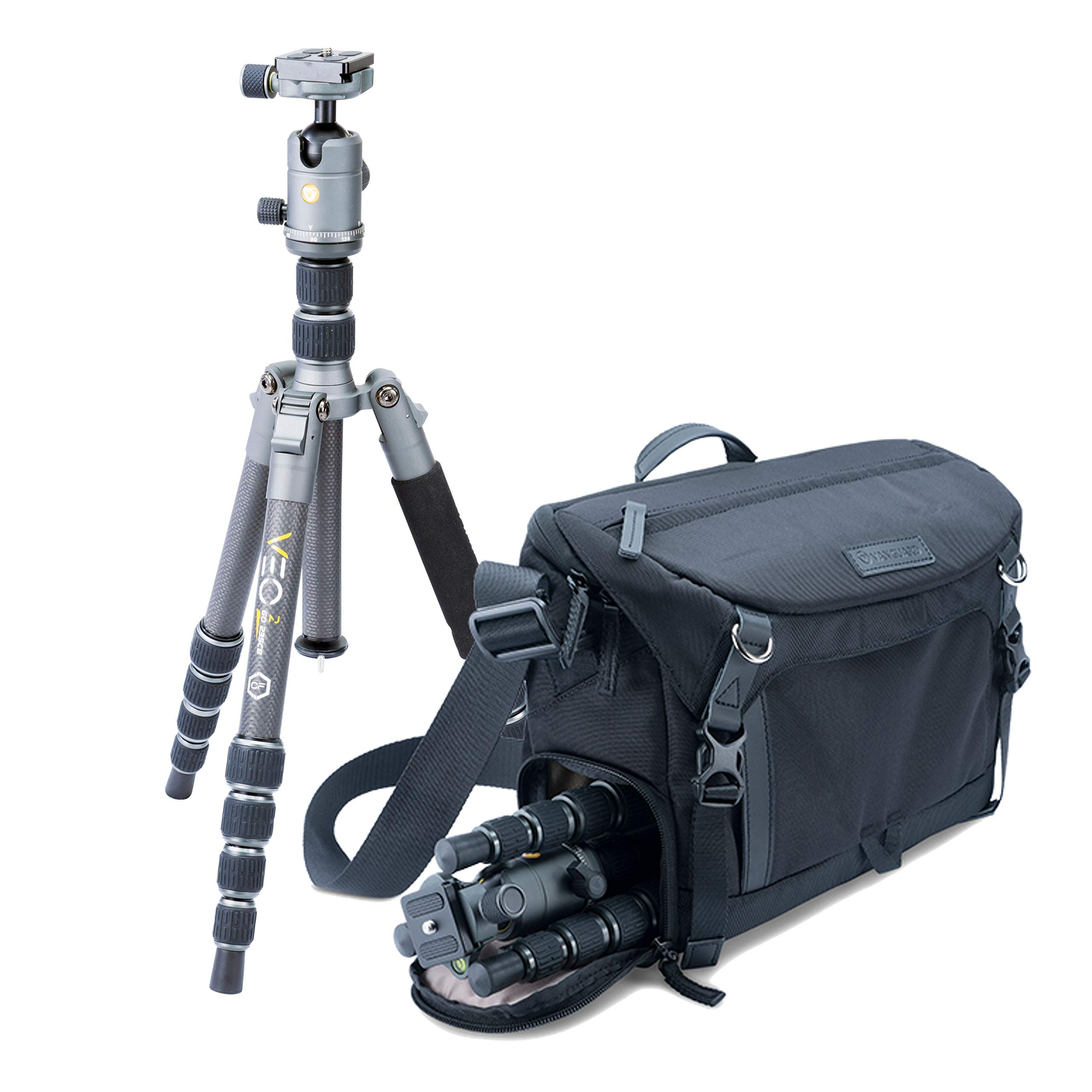 Veo 2GO 235CB Tripod Kit and Veo GO 34M BK Bag by Vanguard