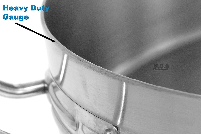 Profond revêtu d/'émail cuisson Stock Soupe Pot 40 L commercial ragoût Casserole Brew Pan