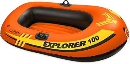 Amazon.com : Intex Explorer 100, 1-Person Inflatable Boat : Open