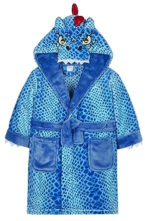 Boys Monster Dinosaur Dressing Gown Fleece Hooded Child Novelty ...