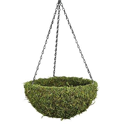 "SuperMoss (29201) MossWeave Hanging Basket - Round, Fresh Green, Medium (14.5 Diameter)"" : Garden & Outdoor"
