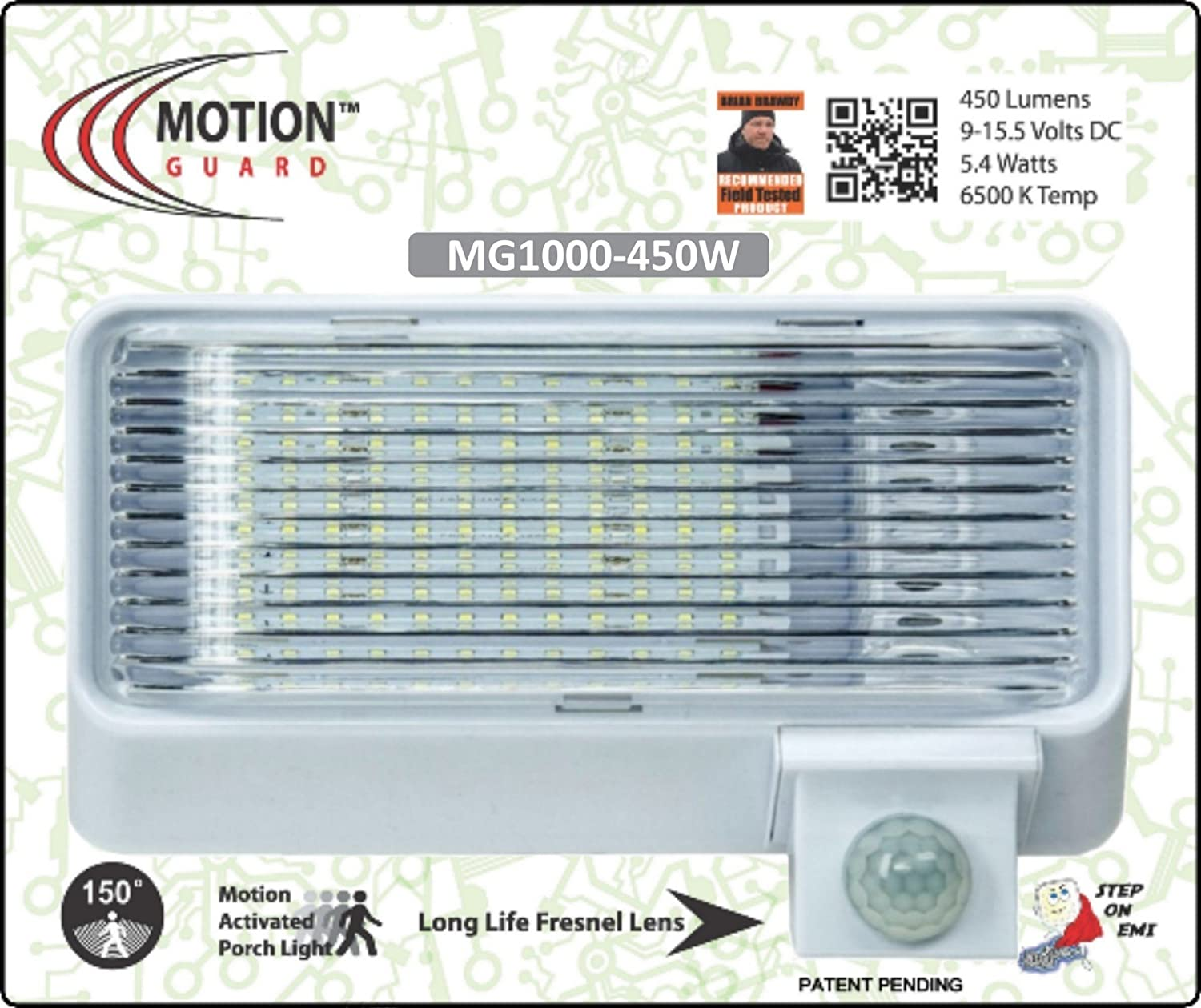Amazon mg1000 450 12 volt exterior motion rv led porch light amazon mg1000 450 12 volt exterior motion rv led porch light rv security motion porch light white automotive audiocablefo