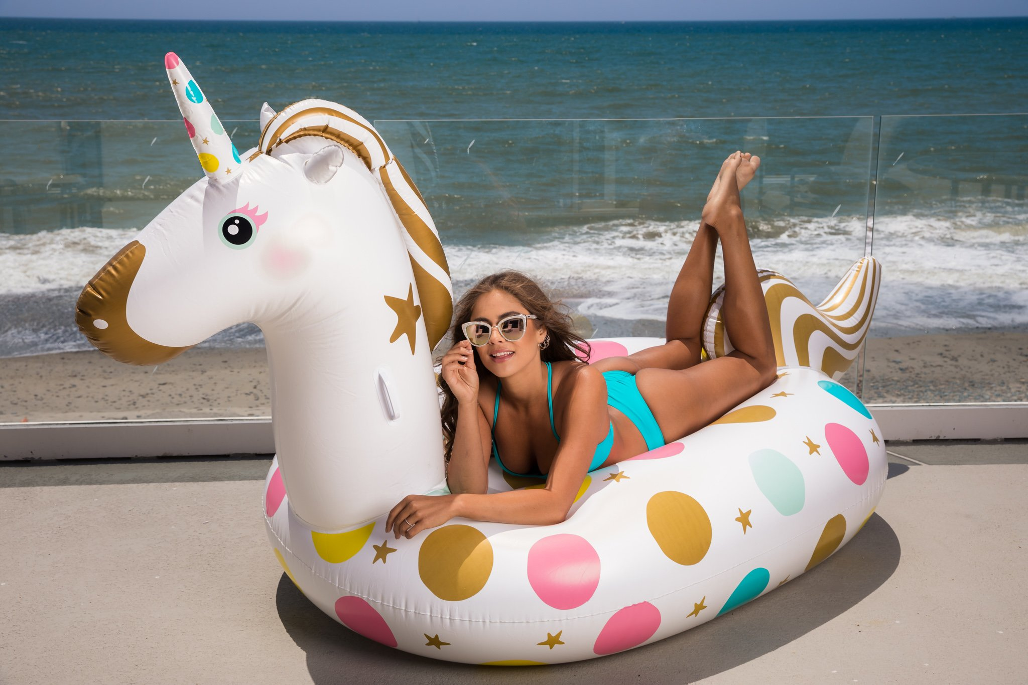 Unicorn Pool Float - Giant 107 x 44 x 55 Inches Inflatable Giant Unicorn Float Swimming Pool River Raft Float Unicorn… 6