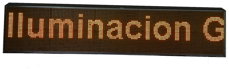 CARTEL LED PROGRAMABLE LETRERO LED PROGRAMABLE (160 * 32 cm, NARANJA ÁMBAR) PANTALLA LED PROGRAMABLE ROTULO LED PROGRAMABLE CARTEL ELECTRÓNICO ANUNCIA ...