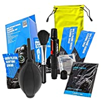 UES DSLR Digital Camera Cleaning Kit, All-Inclusive Sensor and Lenses Cleaning Travel Package (APS-C Sensor Cleaning Swabs, Lens Pen, Bruch, Wet Wipes, Lens Cleaning Tissue, Lens Cleaning Cloth, Air Blower) …