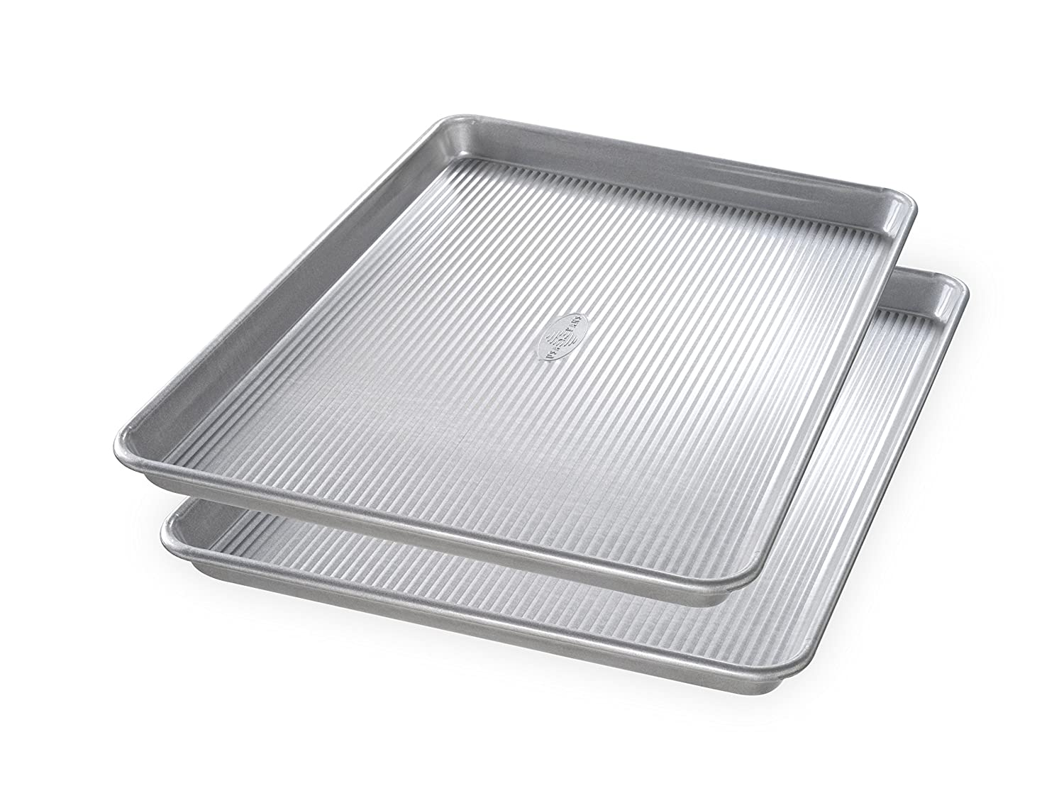USA Pan Bakeware 1300ST Half Sheet Pan, Set of 2, Aluminized Steel