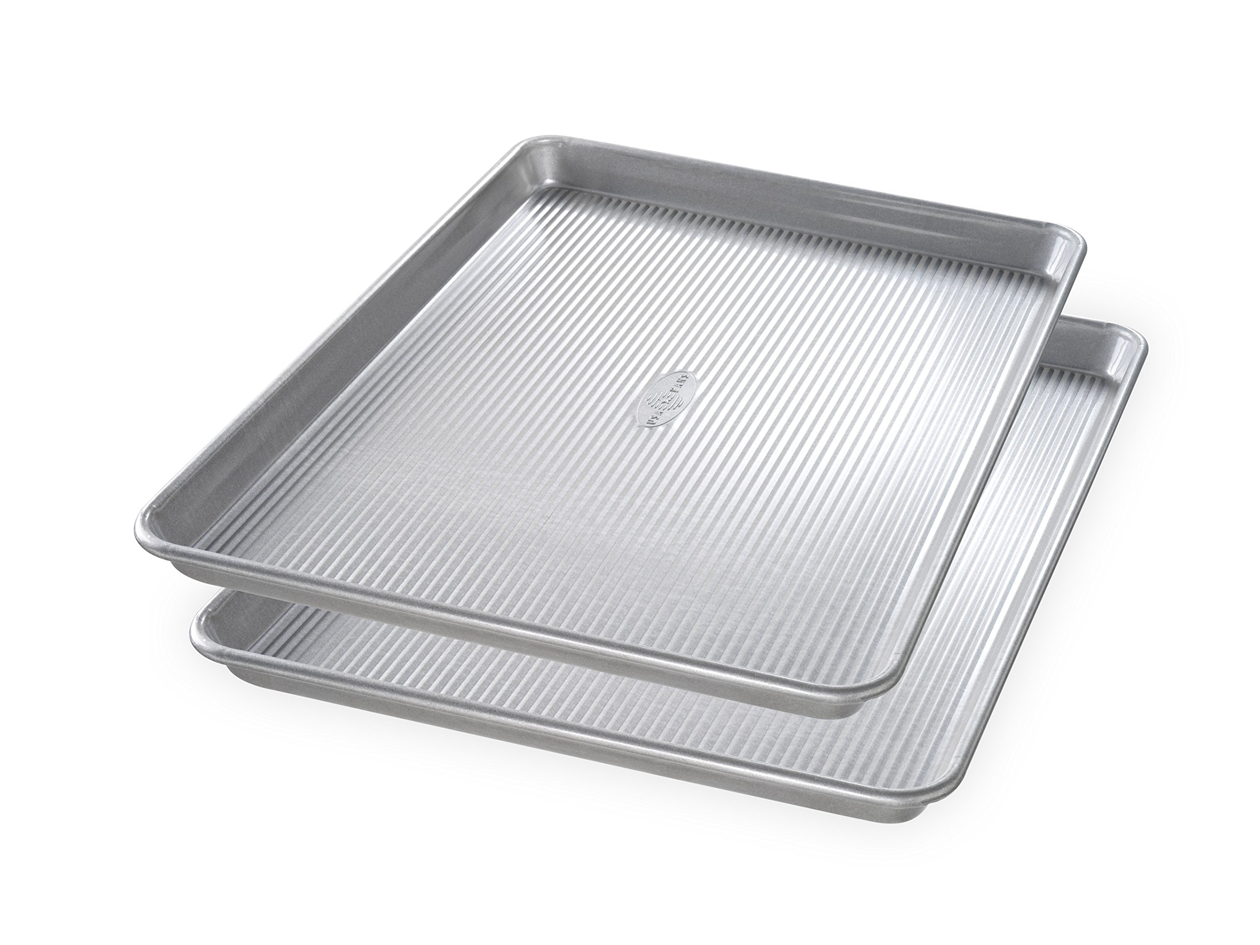 USA Pan Bakeware 1300ST Half Sheet Pan, Set of 2, Aluminized Steel by USA Pan