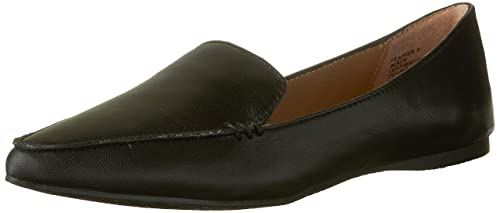 98d261aab24 Steve Madden Feather Loafer Flat Black Leather 5 B(M) US  Buy Online at Low  Prices in India - Amazon.in