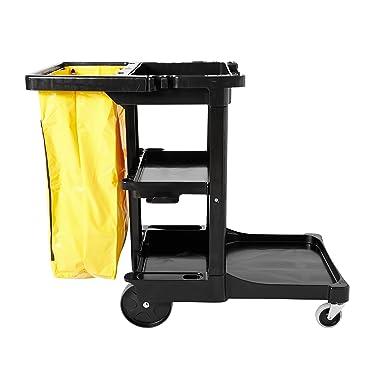 Amazon.com: Carrito de limpieza tradicional Janitorial de 3 ...