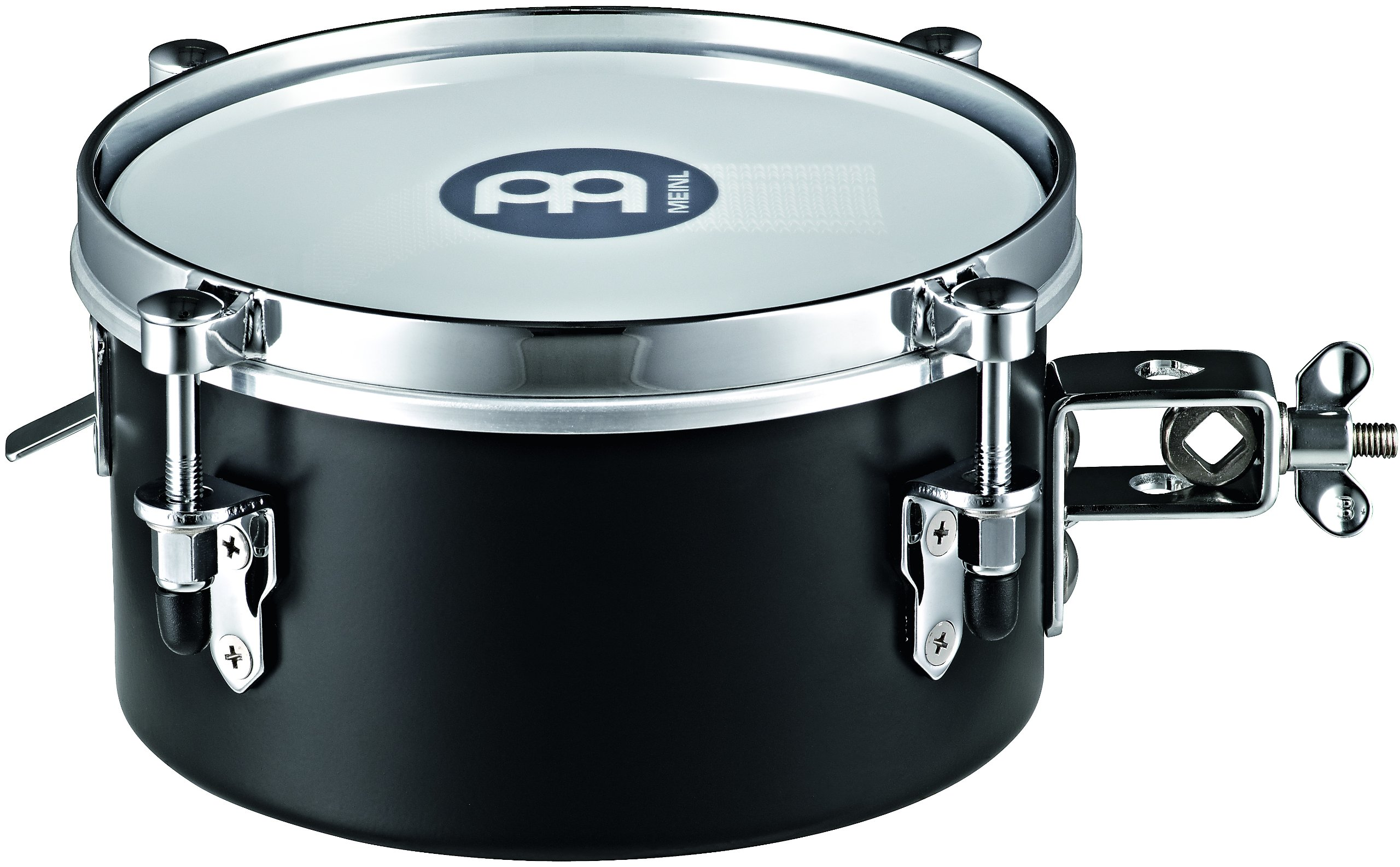 Meinl Percussion MDST8BK 8-Inch Steel Mountable Drummer Snare Timbale, Black
