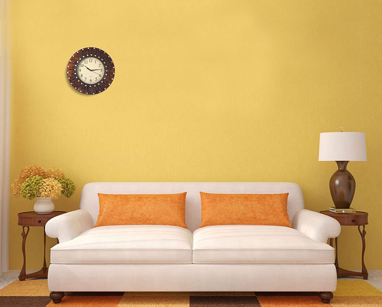Amazon.com: Lulu Decor, Amber Rays Mosaic Wall Clock, Silent ...