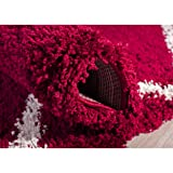 Safavieh Hudson Shag Collection SGH281R Red and