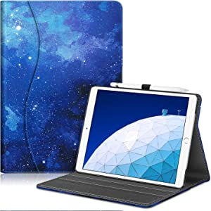 """Fintie Case for iPad Air (3rd Gen) 10.5"""" 2019 / iPad Pro 10.5"""" 2017- [Sleek Shield] Premium PU Leather Slim Fit Multi Angle Stand Cover with Pocket, Pencil Holder, Auto Wake/Sleep, Starry Sky"""