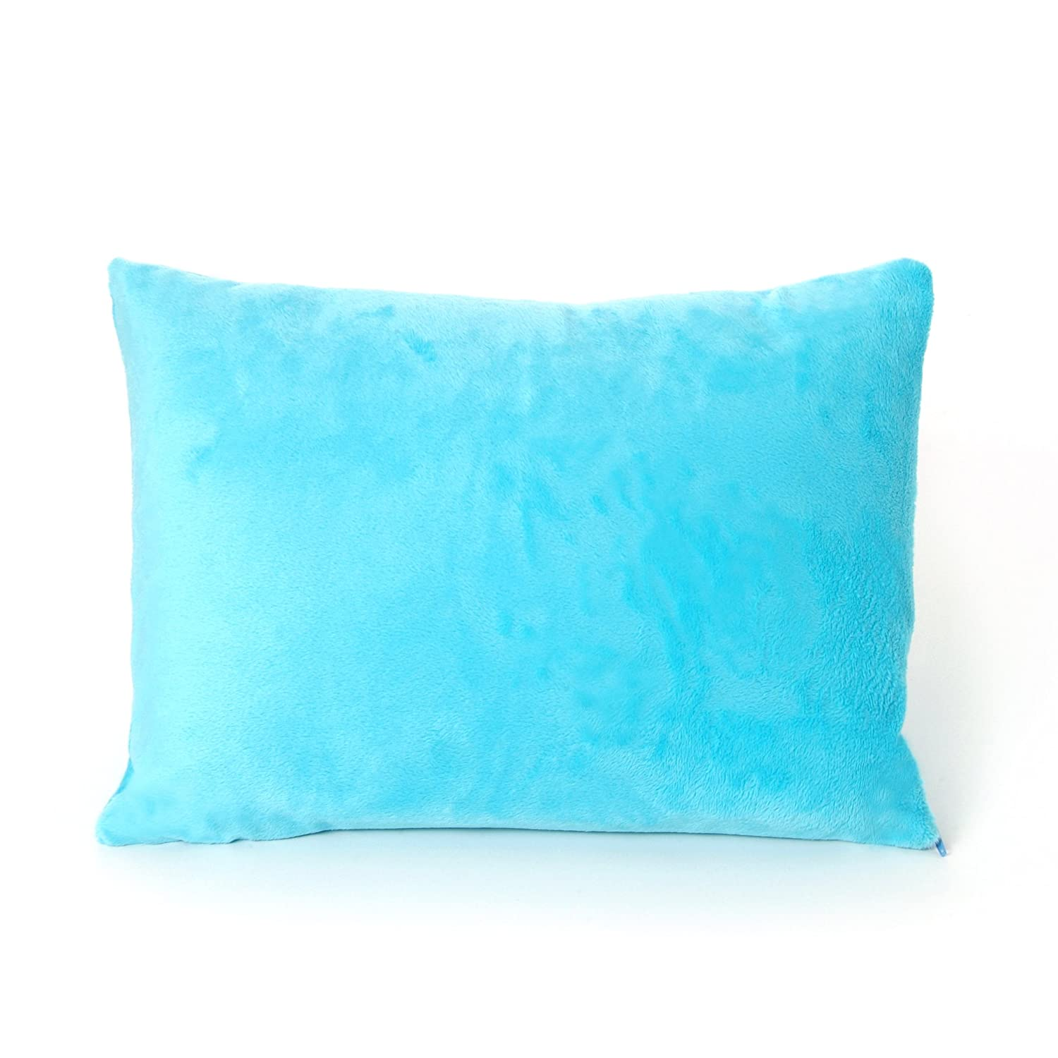 My First Kids Toddler Pillow Premium Memory Foam Toddler Pillow with Pillowcase, Blue, 12 x 16 12 x 16 My First Mattress PL-MFPTB-06