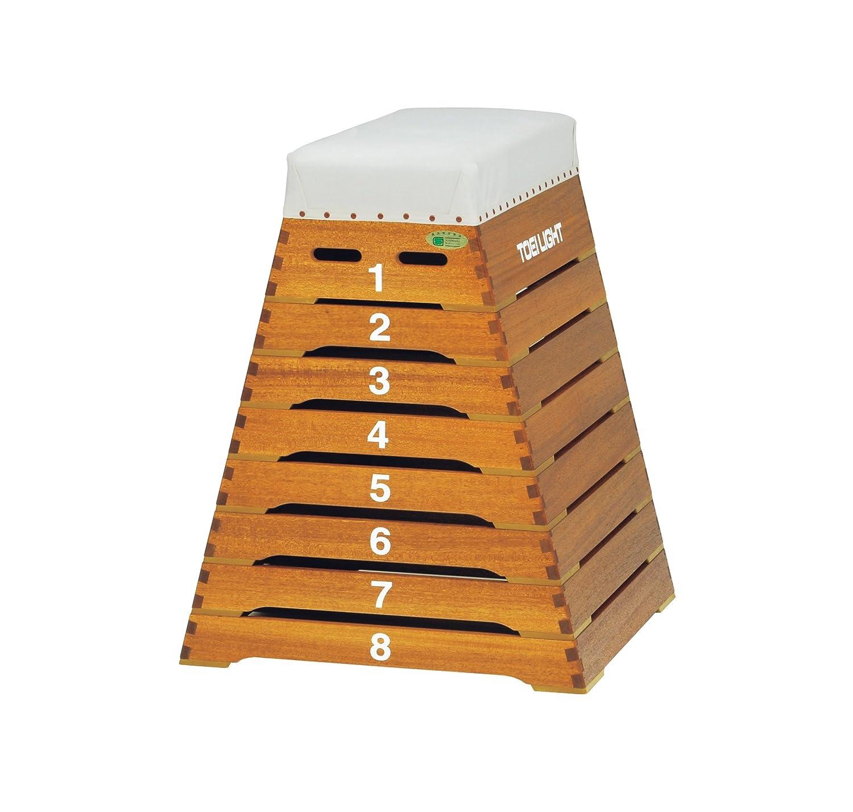 TOEI LIGHT(トーエイライト) 跳び箱8段小型 下幅80(上幅35)×奥行80×高さ100cm 8段 小学校向 T1312 T1312 B00XY0W056