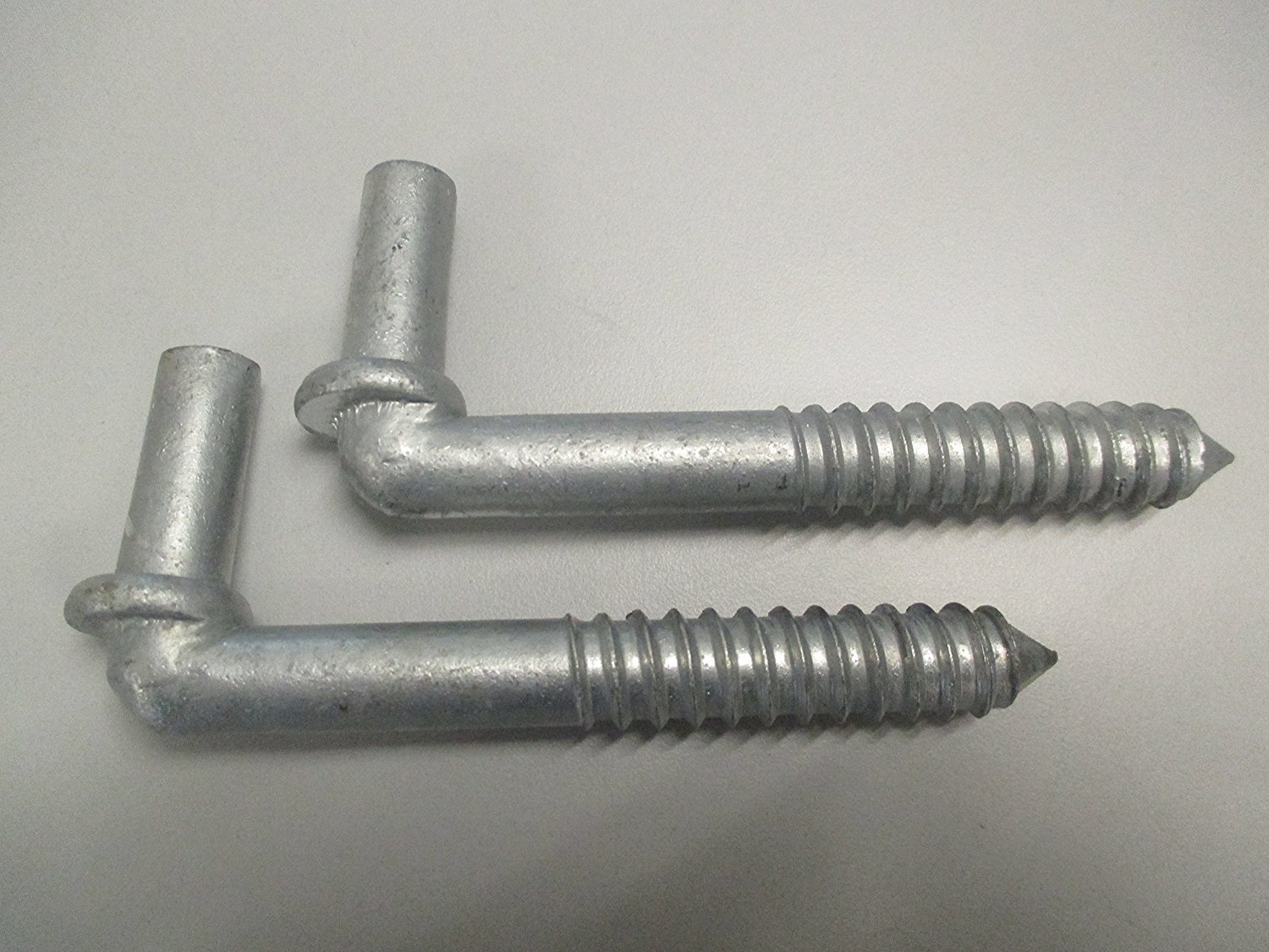 Lag Screw Style 2 Pc Pack Chain Link Gate Hinge 5/8'' x 6''