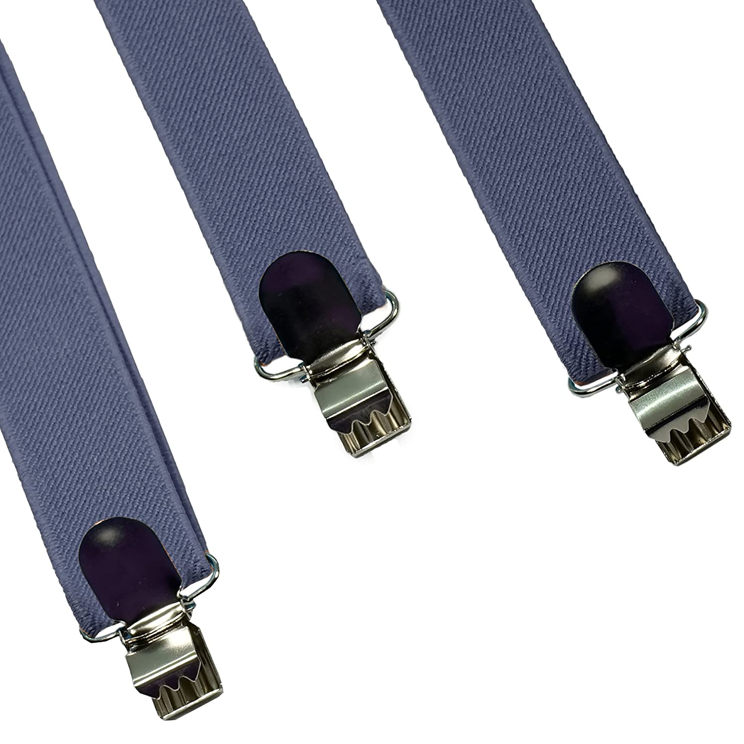 Stylish Womens and Mens Suspenders Adjustable Solid Straight Clip by Action Ward