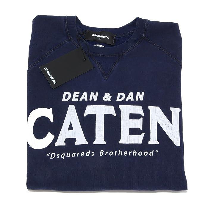 2193L felpa uomo blu DSQUARED D2 felpe sweatshirts men  Amazon.it   Abbigliamento 3fde7500002d