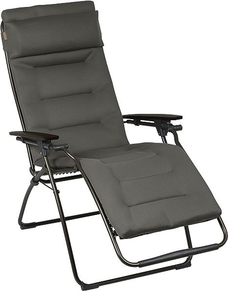 Lafuma Fauteuil Relax Position Reglable Structure En Acier Hle Air Comfort Futura Couleur Taupe Lfm30516895 Amazon Fr Jardin