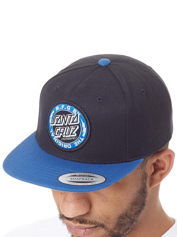 Gorro Snapback Santa Cruz Voltage Colour Negro-Strong Azul ...