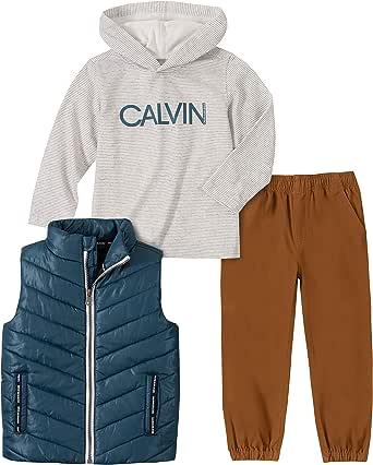 Calvin Klein Juego de 3 Chalecos. Juego de Pantalones para bebés niños