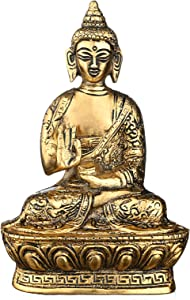 "CMEI Buddha Statues for Home. 7"" Buddha Statue (Blessing or Protection Buddha). Collectibles and Figurines, Meditation Decor, Spiritual Living Room Decor, Yoga Zen Decor, Hindu and East Asian Décor"