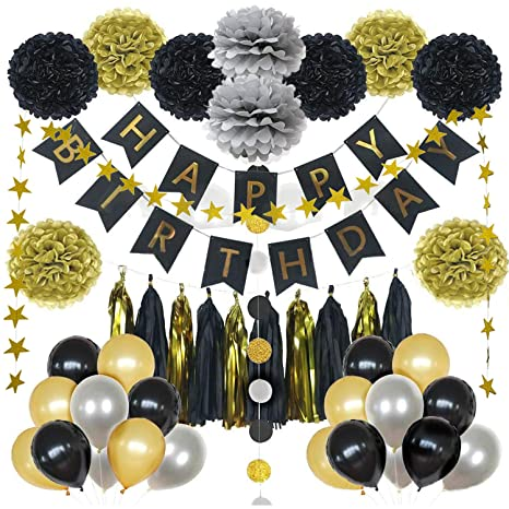 Amazon Moinkerin Happy Birthday Banner Decorations