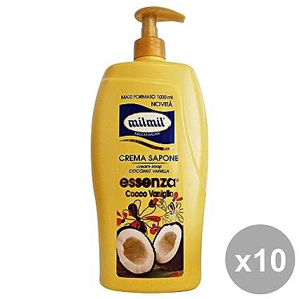 Juego 10 mil mil Jabón Líquido Dispensador cocco-vaniglia 1 lt. saponi y cosméticos