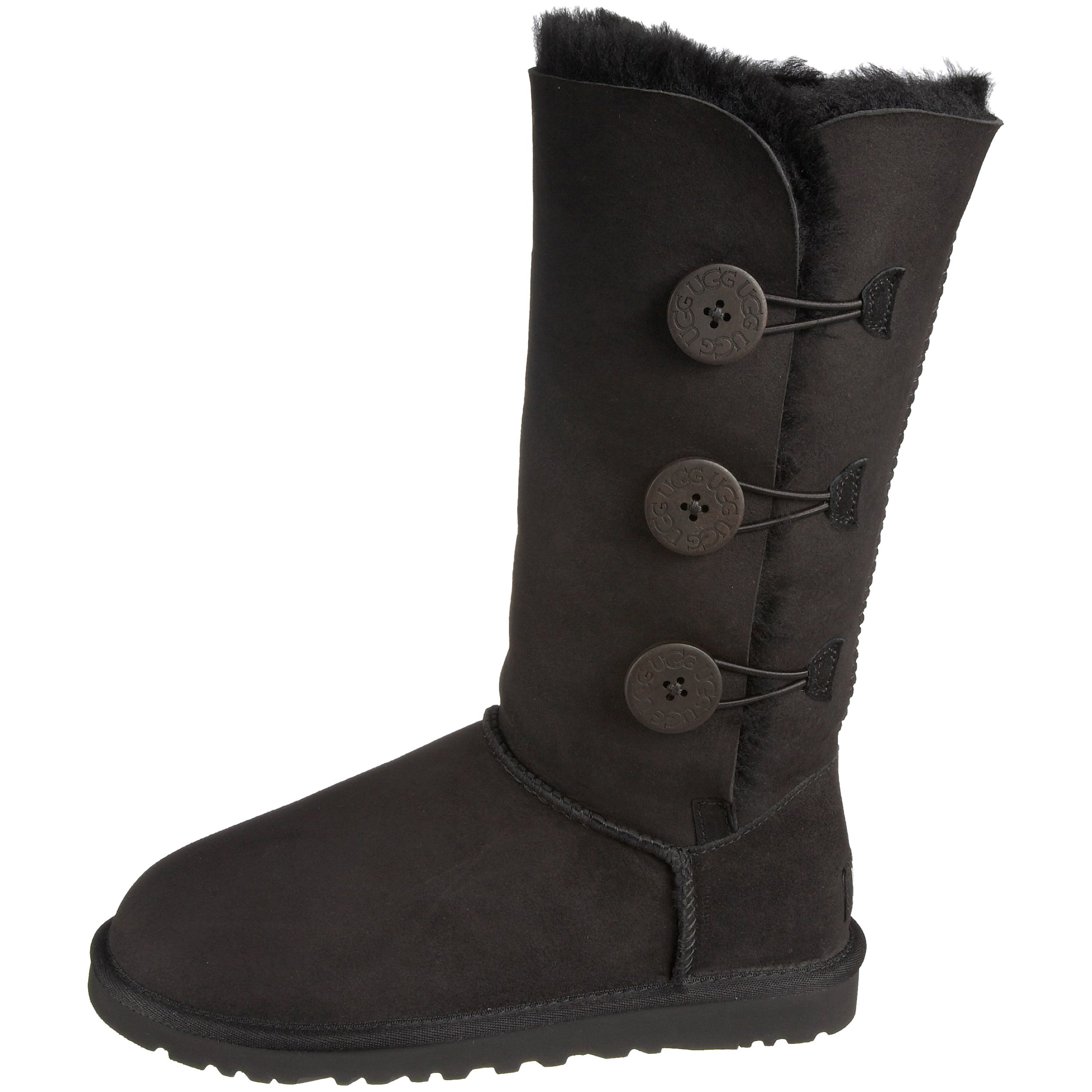 Ugg Women's Bailey Button Triplet Boot, Black, 6 M US by UGG (Image #5)