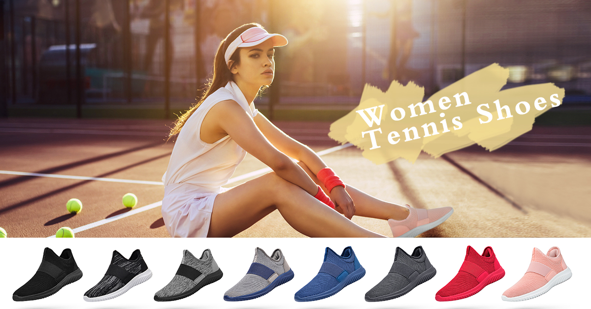Troadlop Women Sneakers Air Cushion Slip on Tennis Shoes Light Breathable Running Walking Athletic Shoes 7