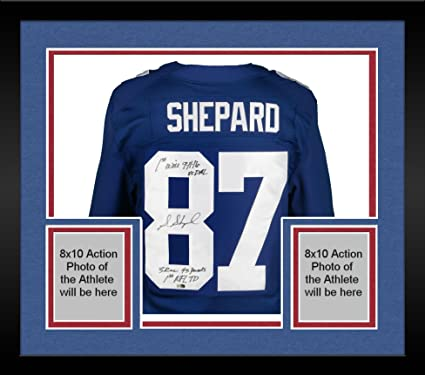 separation shoes 661e3 ea78a Framed Sterling Shepard New York Giants Autograph Nike Elite ...