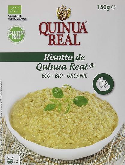 Risotto de quinua real bio gluten free - Paquete de 12 x 150 gr - Total: 1800 gr