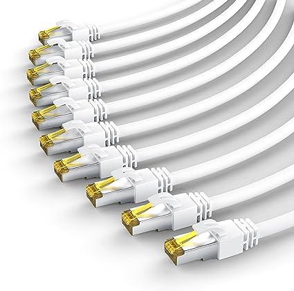 Csl 10 X 0 25m Cat 7 Netzwerkkabel Gigabit Ethernet Computer Zubehör