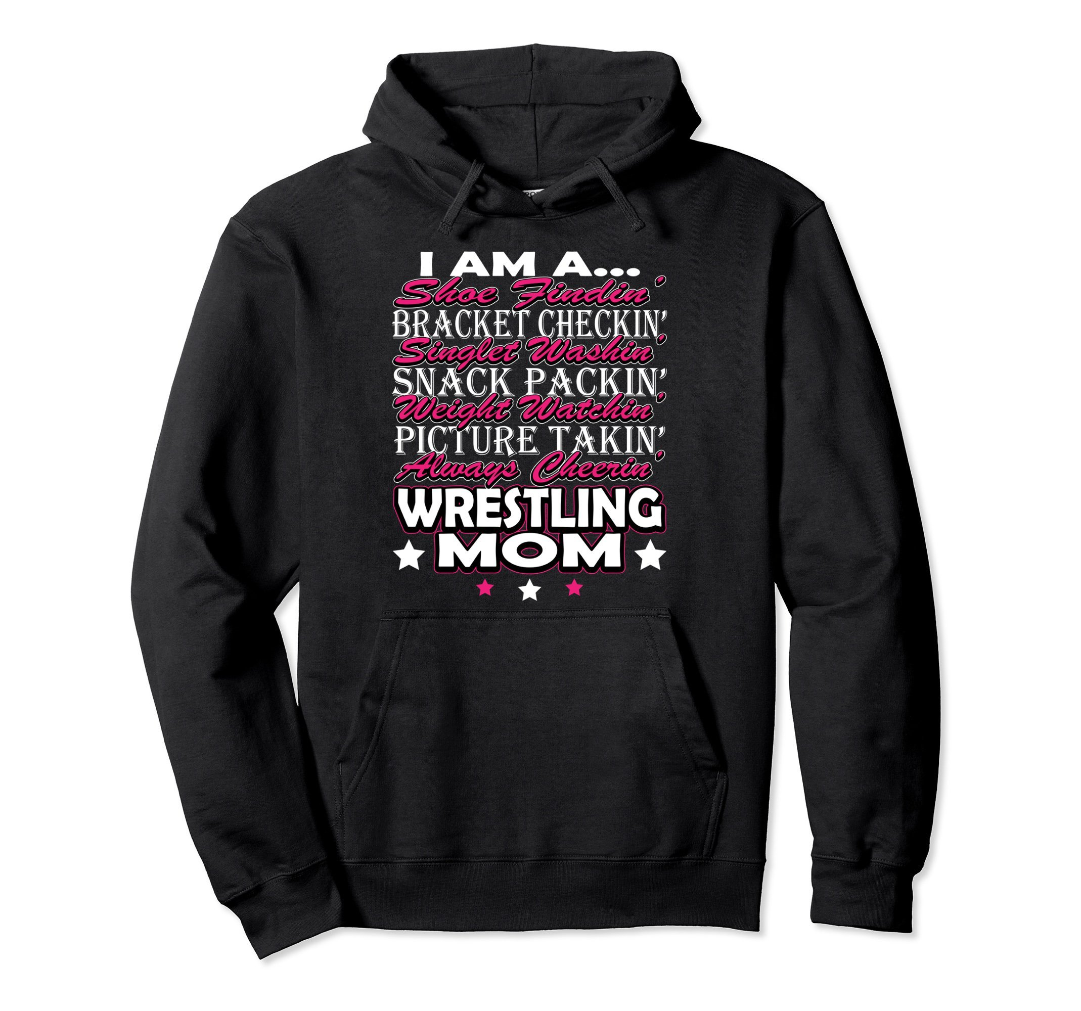 Unisex Wrestling Hoodie Sweatshirt - Wrestling Mom Hoodie Sweater XL: Black by Wrestling Sweatshirt by Crush Retro