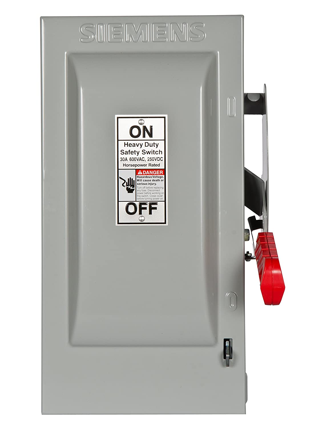 Siemens HF361 30-Amp 3 Pole 600-volt 3 Wire Fused Heavy Duty Safety  Switches - - Amazon.com