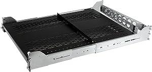StarTech.com 2U Vented Sliding Server Rack Shelf w/ Cable Management Arm - Adjustable Depth - 50lb - 19? Server Tray Shelf for Equipment Rack (UNISLDSHF192), Black