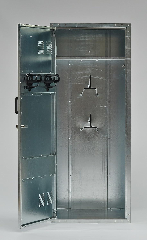 Sattelschrank stationär Spind Schrank aus Metall verzinkt: Amazon ...