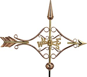 Good Directions 8842PG Victorian Arrow Garden Weathervane, Polished Copper with Garden Pole