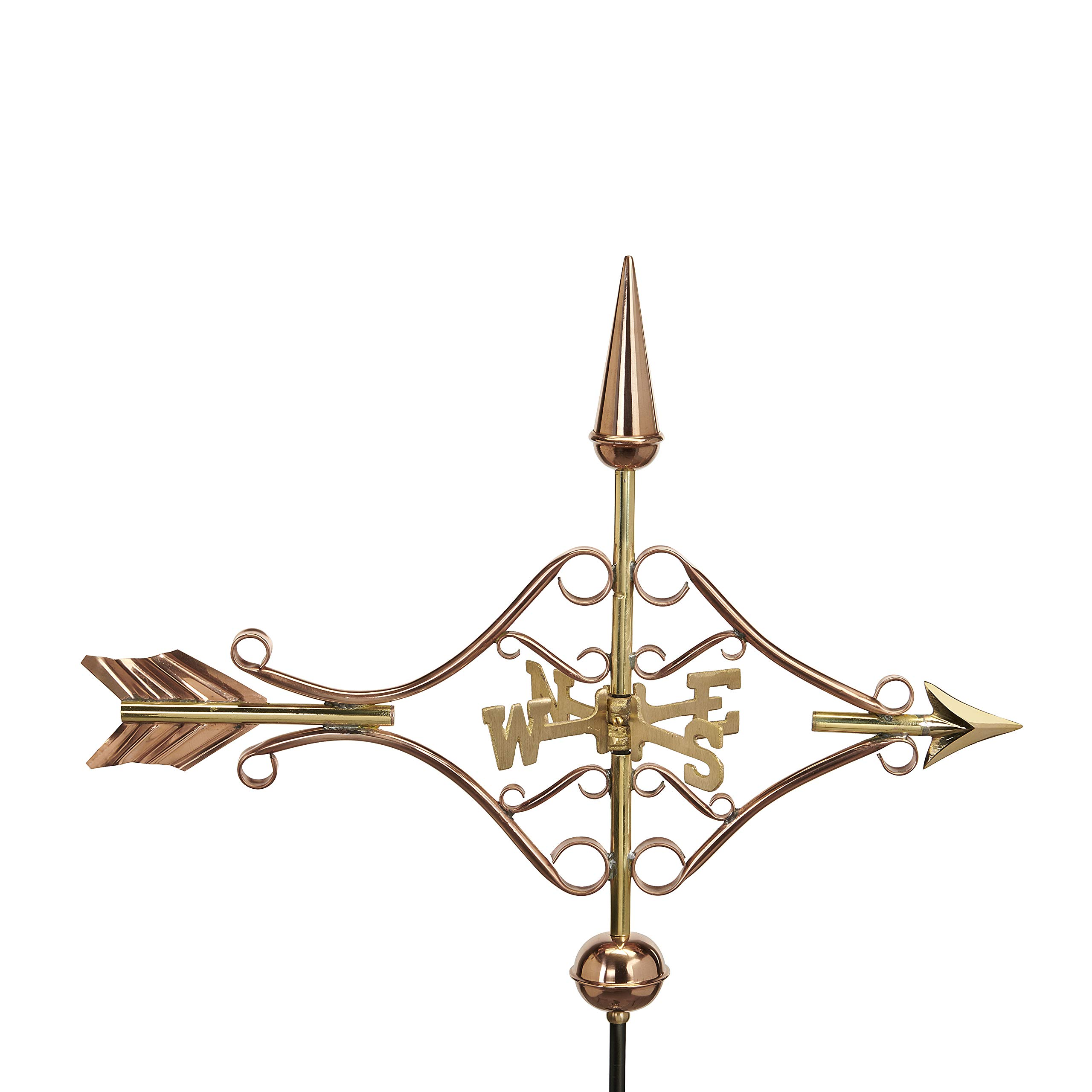 Good Directions 8842PR Victorian Arrow Cottage Weathervane, Polished Copper with Roof Mount