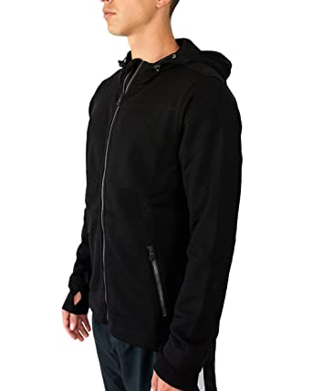53bf468f Amazon.com: Woolx Mens Grizzly Full Zip Merino Wool Hooded Sweatshirt For  Extreme Warmth: Clothing